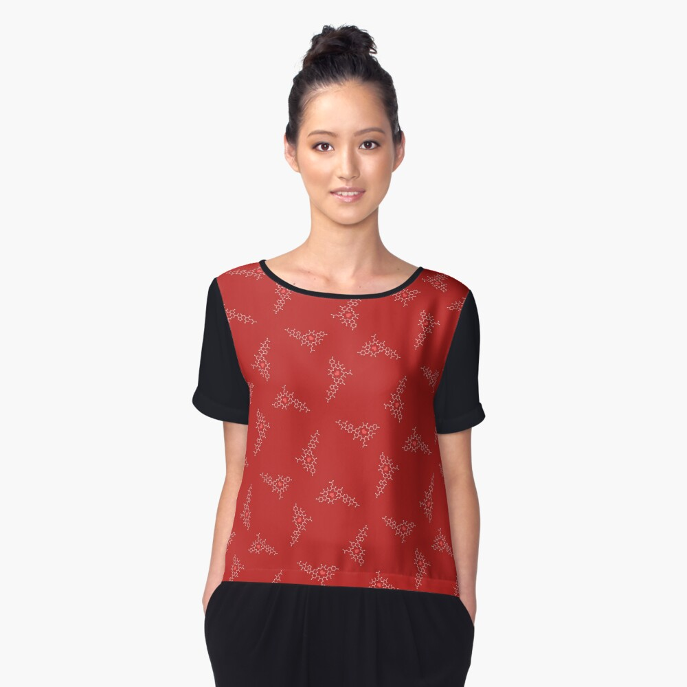 Oxytocin Pattern A Women's Chiffon Top Front