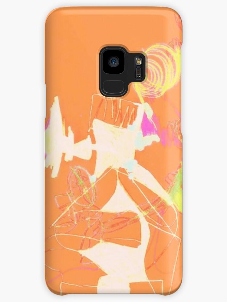 Orange Abstraction Universe Phone Cases by Da Eun You