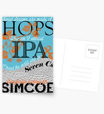 Sweet Dreams are Made of Hops Postcards