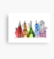 Europe - Capital Cities Canvas Print