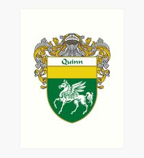 Quinn Coat of Arms / Quinn Family Crest Art Print
