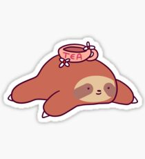 Tea Flower Sloth Sticker