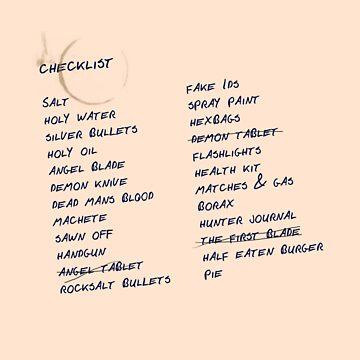 hunters checklist by marlaehrhardt