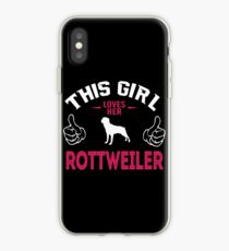 Rottweiler - This Girl Love Her Rottweiler iPhone Case