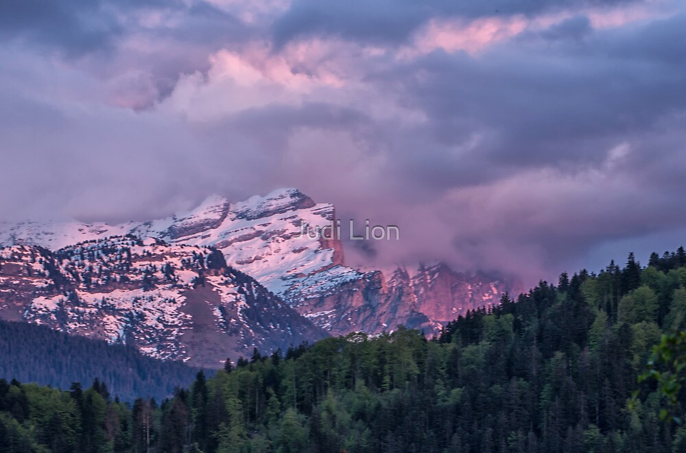 Sunset in the Alps by Judi Lion