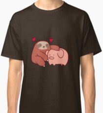 Sloth Loves Pig Classic T-Shirt