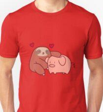 Sloth Loves Pig Unisex T-Shirt