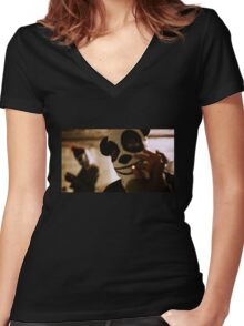 Capital Steez 47 Women's Fitted V-Neck T-Shirt