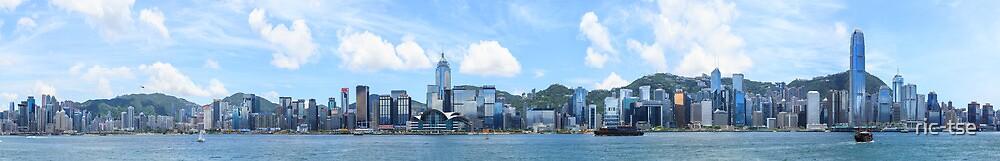 Hong Kong Victoria Harbor Panorama by ric-tse