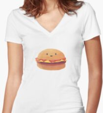 Burger Buddy Women's Fitted V-Neck T-Shirt