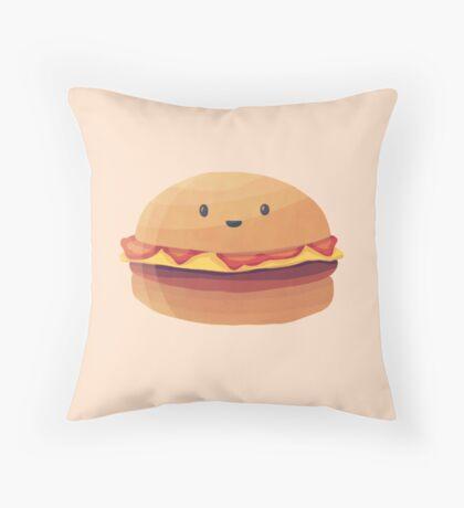 Burger Buddy Throw Pillow