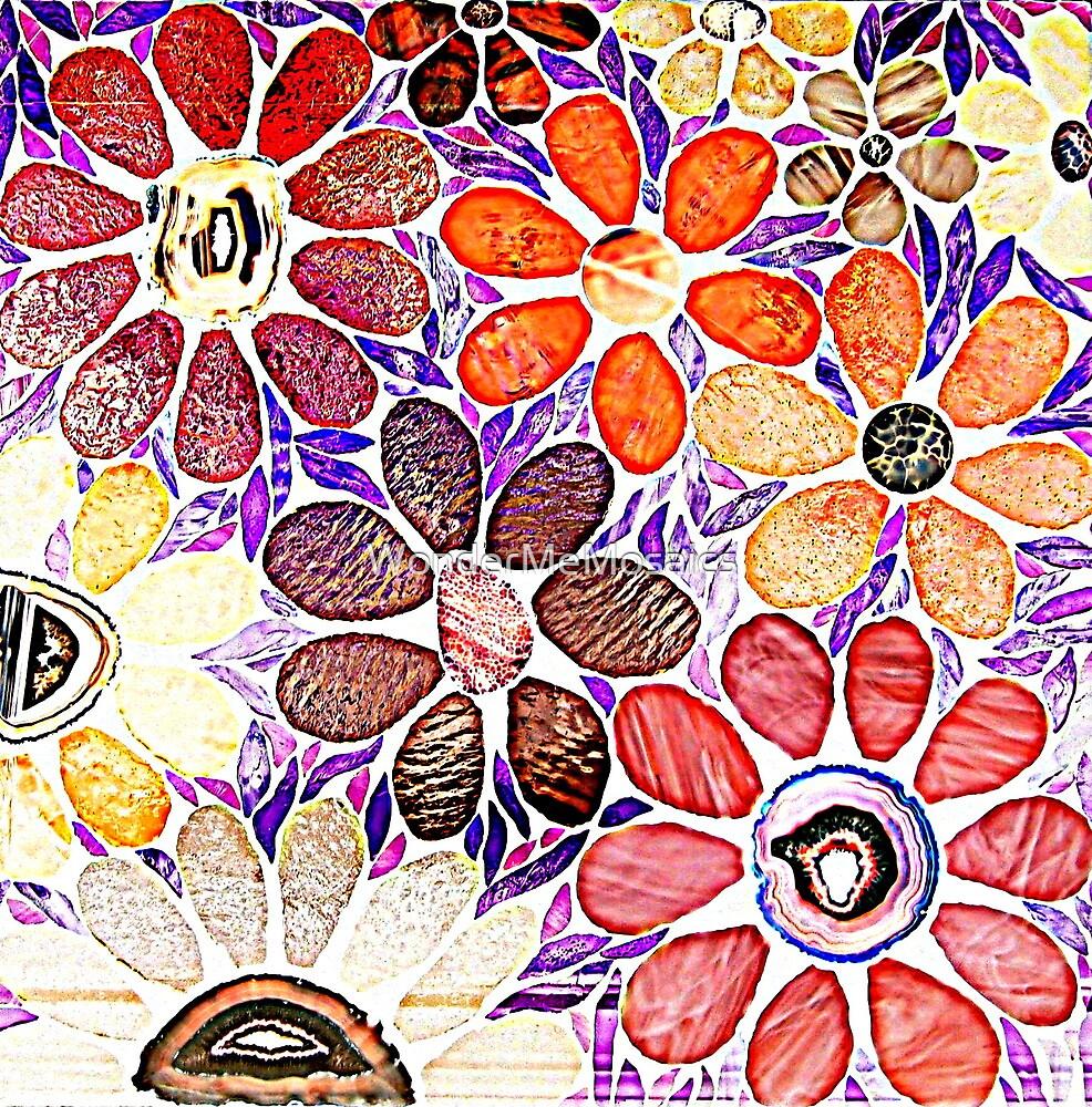 Mosaic Garden Drawing by WonderMeMosaics