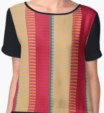 Stripes and other shapes Chiffon Top