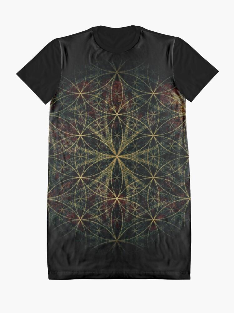 Alternative Ansicht von Heilige Blume des Lebens T-Shirt Kleid