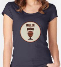 SF Giants HOF Announcer Jon Miller Pin Women's Fitted Scoop T-Shirt