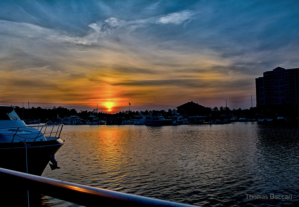 Sunset in North Myrtle Beach by TJ Baccari Photography