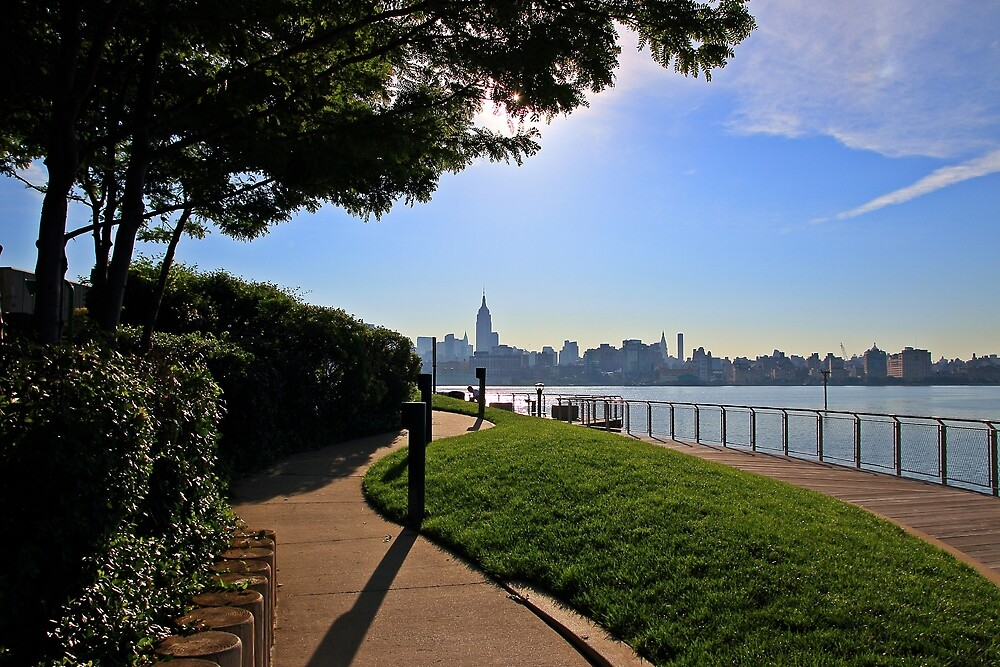 View Of Manhattan From Pier C Hoboken NJ by pmarella