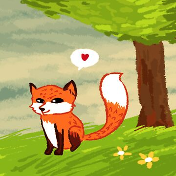 Cute Fox by Kvyna