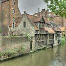 Brugge -2 , Belgium by Peter Wiggerman