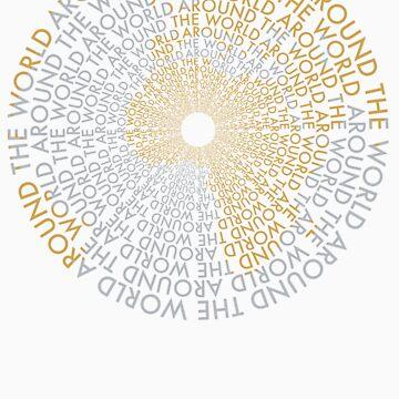 Around the World - Gold, Silver by MysticAmmy