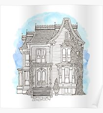 Victorian House Poster