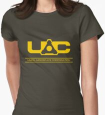 UAC - Doom Yellow Womens Fitted T-Shirt