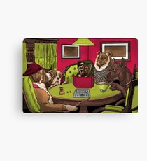 Dogs Playing Dungeons and Dragons Canvas Print
