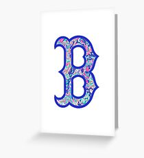 Boston B Greeting Card