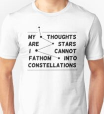 """""""my thoughts are """"  quote pink Unisex T-Shirt"""