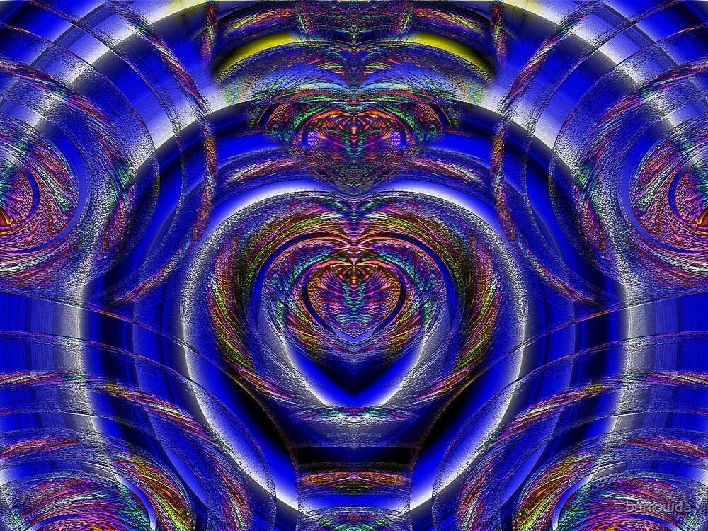Endless Difference Blend on Blue Heart Spirals by barrowda