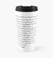 A Relationship Guide to Alexander Hamilton (Version 3) Travel Mug