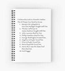 A Relationship Guide to Alexander Hamilton (Version 3) Spiral Notebook