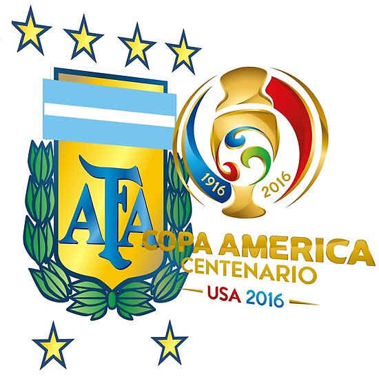 hits argentina soccer team copa america centenario logo tour 2016