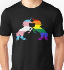 Gay Trans Pride Unicorns Unisex T-Shirt