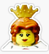 Lego Queen minifigure Sticker