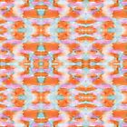 Summer Tangerine Creamsicle Pattern by Katherine Scarritt