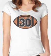 Football 30 Women's Fitted Scoop T-Shirt