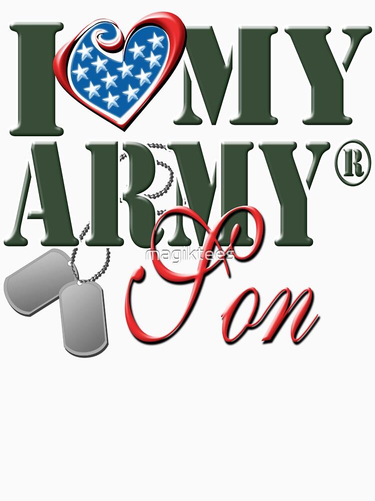 I Love My Army Son by magiktees