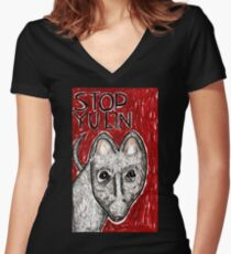 Stop Yulin Women's Fitted V-Neck T-Shirt