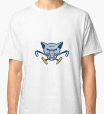 Wild Hog Head Crossed Polo Mallet Retro Classic T-Shirt