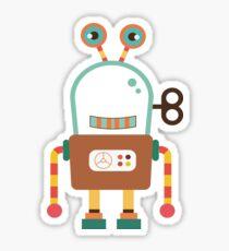 Cute Retro Wind-up Robot Toy Sticker