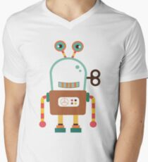 Cute Retro Wind-up Robot Toy T-Shirt