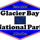 GLACIER BAY NATIONAL PARK ALASKA MOUNTAINS HIKING CAMPING HIKE CAMP 1980 by MyHandmadeSigns