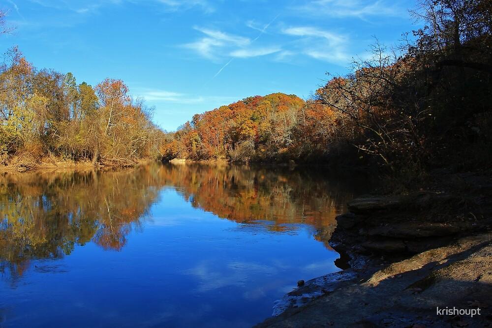 Yadkin River in the Fall by krishoupt