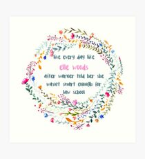 Legally blonde quote Art Print
