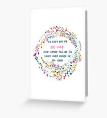 Legally blonde quote Greeting Card