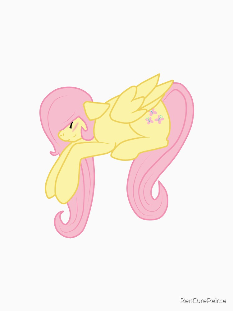 Fluttershy Sleeping On your pillow/bag/shirt by RenCurePeirce