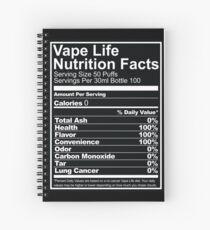 Vape Life Nutrition Facts Spiral Notebook