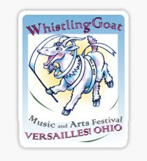 Whistling Goat 'just happy to be here' Festival Sticker