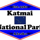 KATMAI NATIONAL PARK ALASKA MOUNTAINS HIKING CAMPING HIKE CAMP 1980 by MyHandmadeSigns